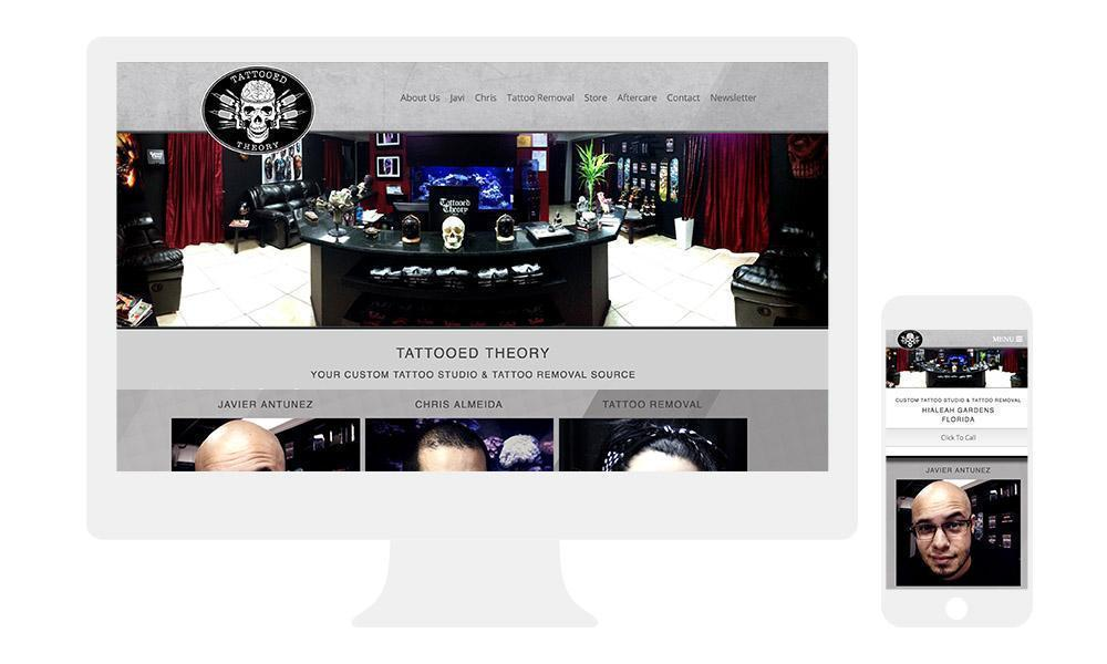 website templets for tattoo artist